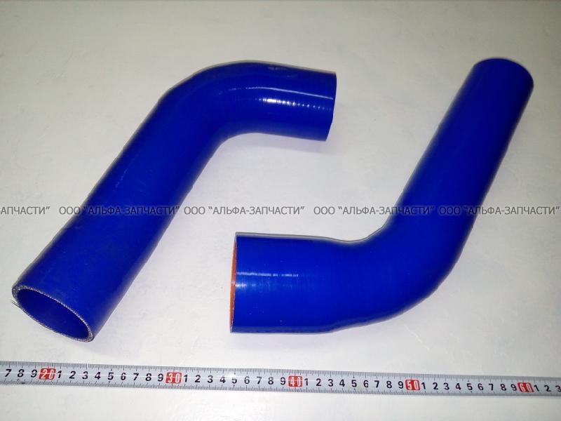 6520-1303010 РК Комплект патрубков системы охлаждения КамАЗ Евро (2 шт.) силикон