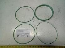 """7511-1002001-02 РК Кольца упл. на гильзу (силикон зеленый, 4 кольца)""""Строймаш"""""""