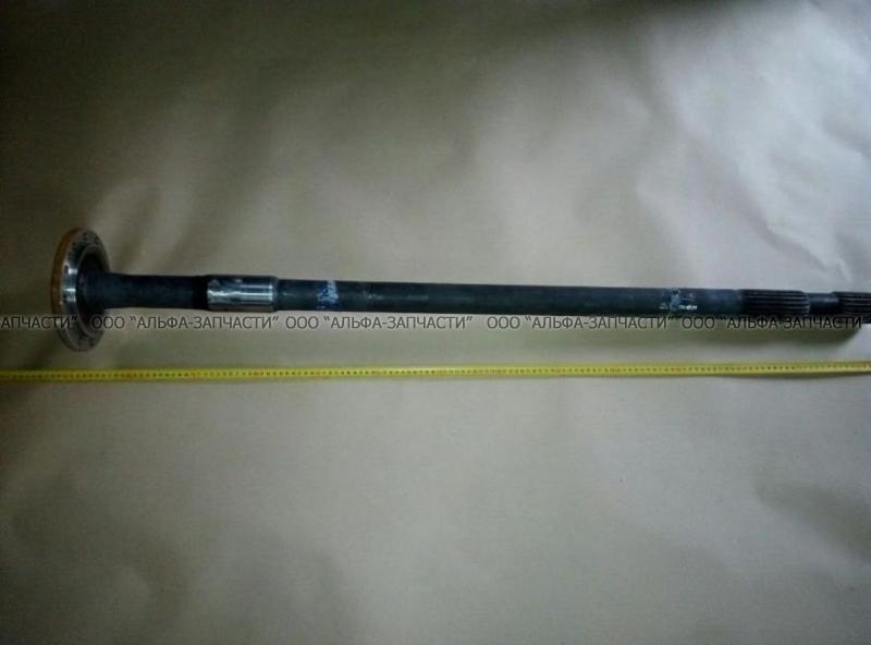 43118-2403069 Полуось КАМАЗ-43114, 43118 левая длинная 20 шлицев (с блокировкой,двойной шлиц)L=1288